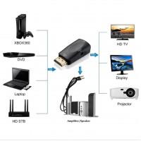 Видео адаптер HDMI към VGA 1080P