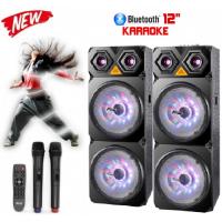 Тонколони за караоке Zephyr Z-9999-2C12 12 инча 2 броя с Bluetooth, МП3 плейър, 2 бр. безжични микрофона