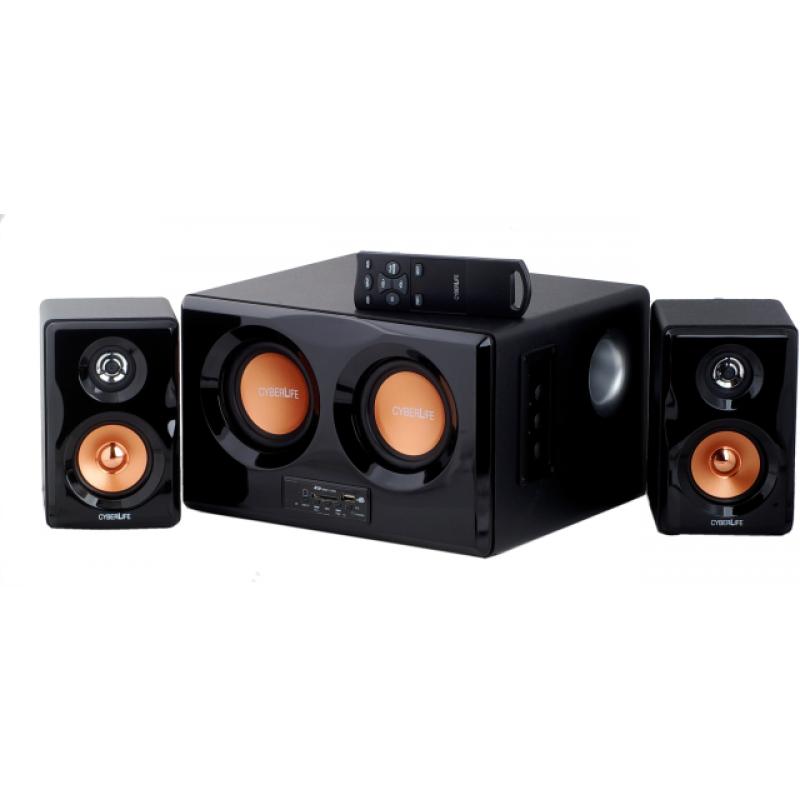 ТОНКОЛОНИ CYBERLIFE SL-2022 (2.1)+MP3 PLAYER+FM+REMOTE CONTROL