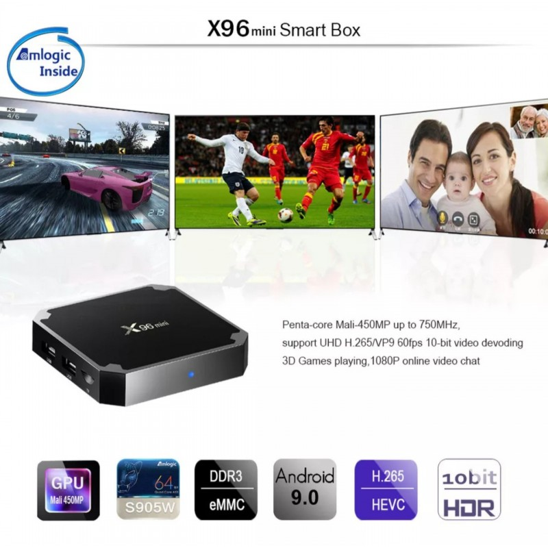 Смарт TV BOX X96 Mini 4GB /32GB Rom ANDROID 9.0